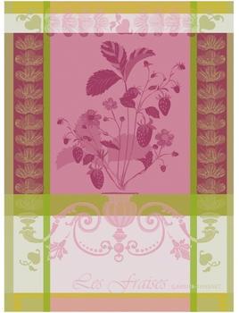 Garnier-Thiebaut Geschirrtuch Fraisier Rosa 77 x 56 cm