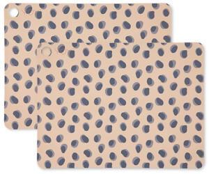 OYOY Tischset Leopard Dots, 45 x 34 cm, camel (2er-Set)