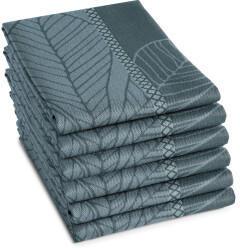 Damai DDDDD Geschirrtuch Leaves Set 6-teilig grau/blau