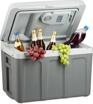 Relaxdays Kühlbox elektrisch mit Trolley-Funktion