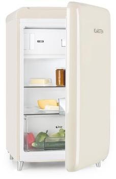 Klarstein PopArt Retro Kühlschrank creme