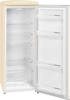 GGV-Exquisit Exquisit RKS 325-16 RVA++MW Retro-Kühlschrank/EEK: A++/229 Liter/Retro-Handgriff/LED-Innenbeleuchtung/Magnolienweiß