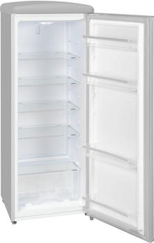 GGV-Exquisit Exquisit RKS 325-16 RVA++GRAU Retro-Kühlschrank/EEK: A++/229 Liter/Retro-Handgriff/LED-Innenbeleuchtung/Grau