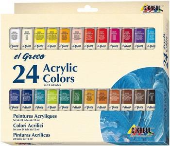 C. Kreul El Greco Acrylfarben Set 24x12ml