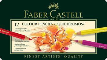 Faber-Castell Farbstift Polychromos 12 Stück