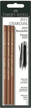 Faber-Castell Reisskohlestift PITT Monochrome 3er Set (soft, medium, hard)