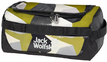 Jack Wolfskin Expedition Wash Bag green geo block