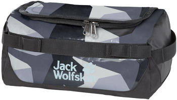 Jack Wolfskin Expedition Wash Bag grey geo block
