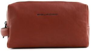 Piquadro Black Square Devided Toiletry Bag cuoio