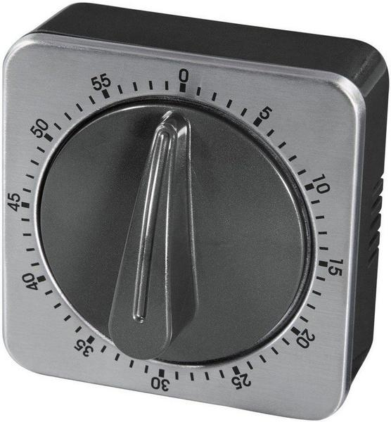 Xavax Kurzzeitwecker analog silber schwarz