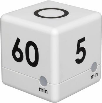 TFA Dostmann Cube Timer digitaler Würfeltimer 38.2032.02 weiß