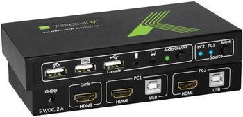 Techly 2x1 USB HDMI KVM Switch 4Kx2K (IDATA-KVM-HDMI2U)