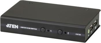 Aten 2-Port-USB-DVI/Audio-Slim-KVM-Switch (CS72D)