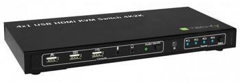 Techly 4x1 USB HDMI KVM Switch 4Kx2K (IDATA-KVM-HDMI4U)