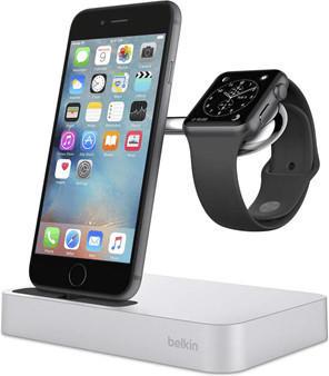 Belkin Ladestation Valet (Apple Watch & iPhone) silber
