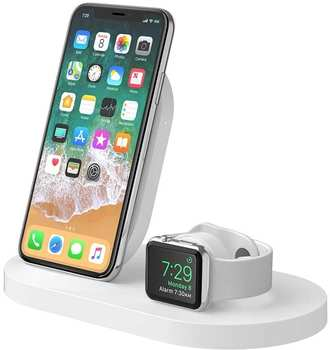 Belkin BOOST?UP Wireless Charging Dock (iPhone & Watch) Weiß