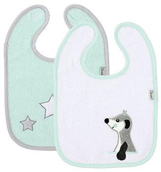 Sterntaler Klett-Lätzchen Elvis 2Er-Pack mint/weiß