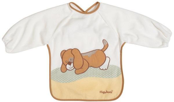 Playshoes Frottee-Ärmellätzchen Hund braun/weiß