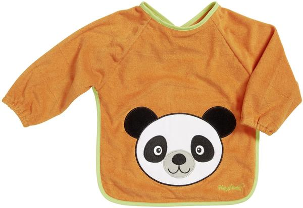 Playshoes Frottee-Ärmellätzchen Panda orange