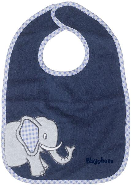 Playshoes Klett-Lätzchen Elefant blau