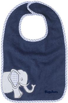 Playshoes Klett-Lätzchen XL Elefant blau
