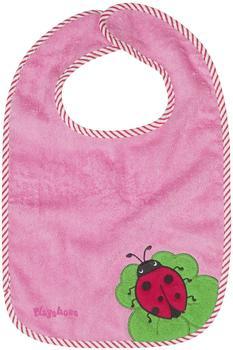 Playshoes Klett-Lätzchen XL Marienkäfer rosa