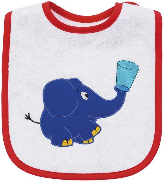 Smithy Lätzchen Der kleine blaue Elefant weiß