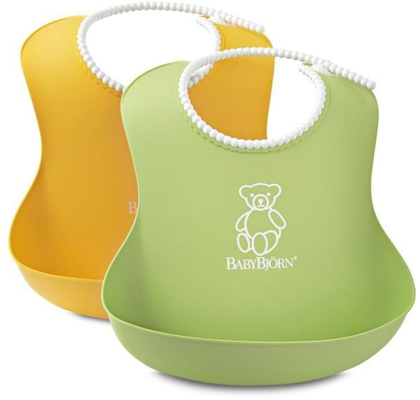 Babybjörn Weiches Lätzchen 2er Pck gelb/grün