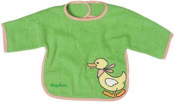 Playshoes XL-Ärmel-Lätzchen Ente grün