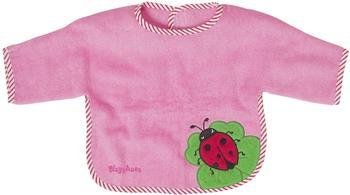 Playshoes XL-Ärmel-Lätzchen Marienkäfer pink