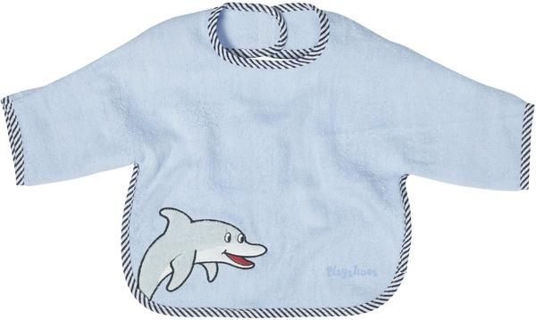Playshoes XL-Ärmel-Lätzchen Delphin blau