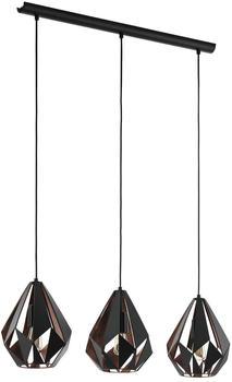 Eglo Carlton 1 3-flammig schwarz/Kupfer (49991)