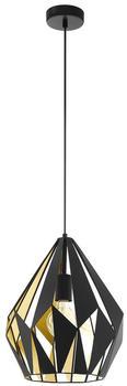 Eglo Carlton 1 110cm schwarz/gold (49931)