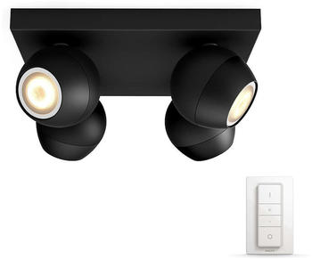 Philips Hue White Ambiance Buckram 4er-Spot schwarz (5047430P7)