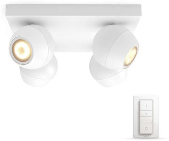 Philips Hue White Ambiance Buckram 4er-Spot weiß (5047431P7)
