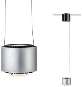 Paulmann VariLine LED Pendel Aldan 1-flamming 13W schwarz Aluminium gebürstet dimmbar (955.21)