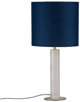 Paulmann Olar 1-flammig mit Stoffschirm blau Marmor Messing (797.31)