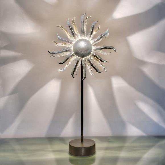 Holländer Sonne mit Dimmer 62cm silber schwarz (300 K 12195 S)