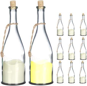 relaxdays-flasche-mit-led-kerze-10er-set