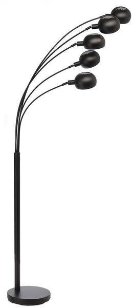 Deko-Light Elantin 198cm 5-flammig E27 matt schwarz
