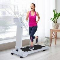 Homcom Heimtrainer Fitnessgerät LED Elektrisch Laufband USB MP3 10 Km/h 1300W