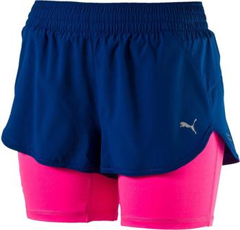 Puma Running Damen Blast 2in1 Shorts true blue knockout pink (2017)