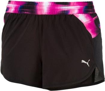 Puma Running Damen Blast Graphic Shorts black/yoke ultra magenta