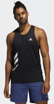 Adidas Own the Run 3-Streifen PB Singlet black Männer (FP7540)