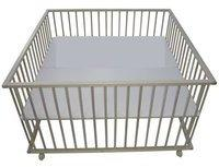 Sämann Kindermöbel Zwillingslaufgitter 120 x 120 cm Buche unbehandelt (HLR-120)