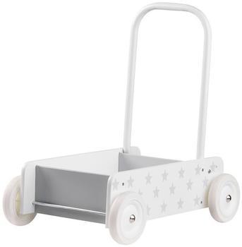 Kid's Concept Lauflernwagen Holz mit Bremse Star weißgrau m. Bremse