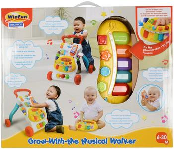 WinFun Grow-With-Me Lauflernwagen mit Musik