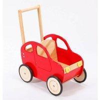 All-4-Baby Lauflernwagen Holz Motiv Auto Farbe: rot