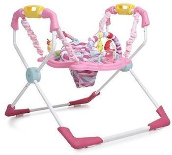 Moni Trade Ltd Hopser mit Spielcenter und Musik Baby Jumper Activity Center X-factor rosa