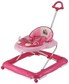 PawHut Lauflernhilfe Laufhilfe Gehhilfe für Baby Gehfrei Babywalker höhenverstellbar Rosa